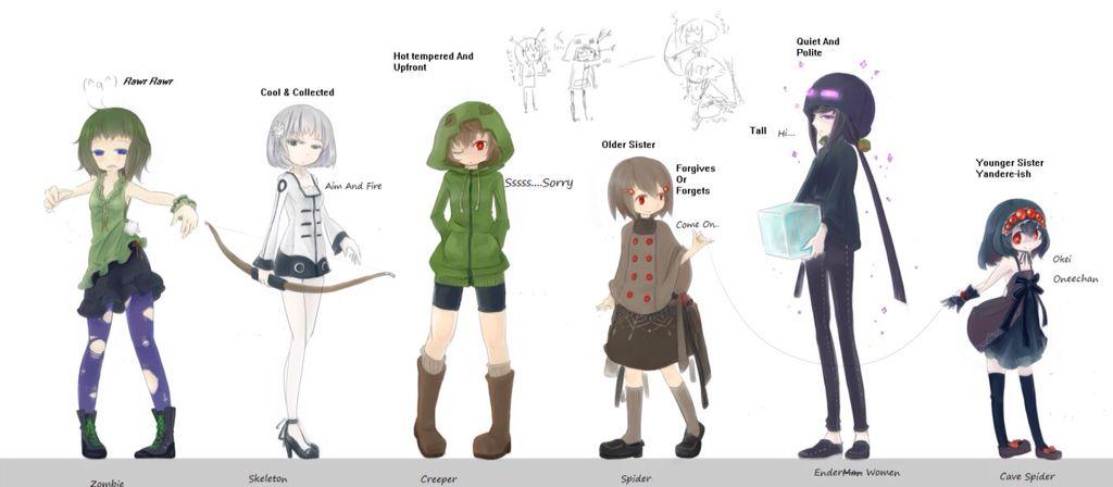 аниме картинки майнкрафт