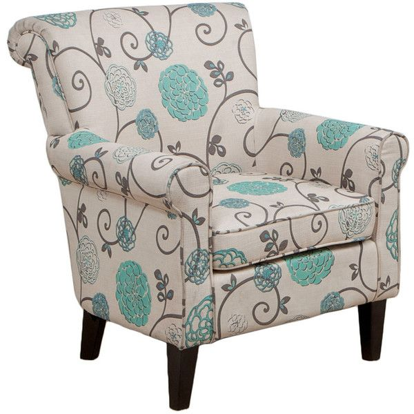 Best Cannon Floral Club Chair 470 Liked On Polyvore 640 x 480