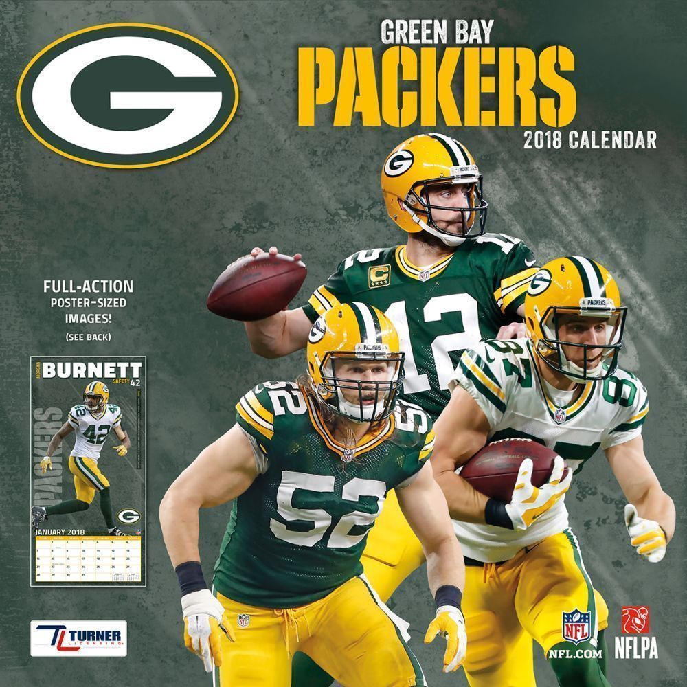 2018 Nfl Green Bay Packers Team Wall Calendar Full Action Poster Sized Images Turnerlicensing Greenbay Green Bay Packers Team Nfl Green Bay Green Bay Packers