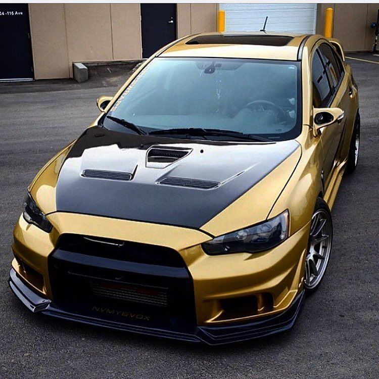 Amazing Mitsubishi Lancer Sport Car Wallpaper Hd Picture: Starting The Week Off With Some @noppswraps Wrapped Golden