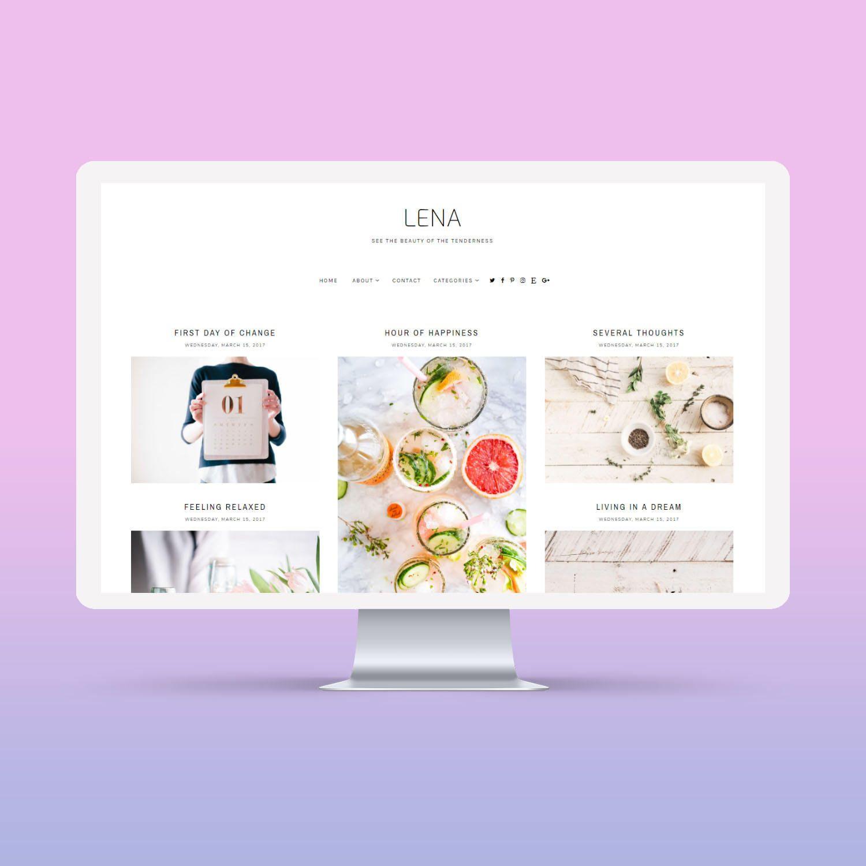 SALE Lena Responsive Minimalist Premade Blogger Template | Blog ...