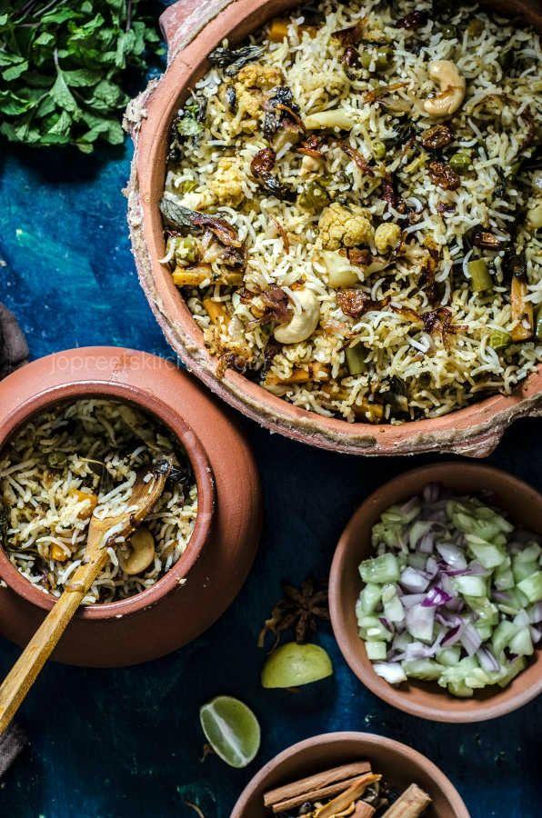 Hyderabadi vegetable dum biryani recipe biryani rice and food hyderabadi vegetable dum biryani indian food recipeseid forumfinder Image collections