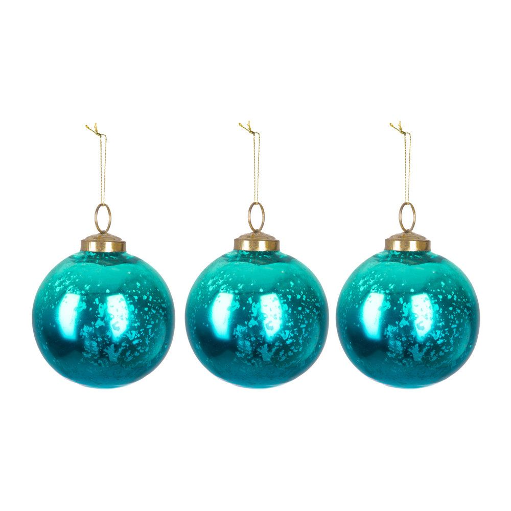 Discover The A By Amara Set Of 3 Sapphire Shine Tree Decorations At Amara Tree Decorations Turquoise Christmas Christmas Tree Decorations