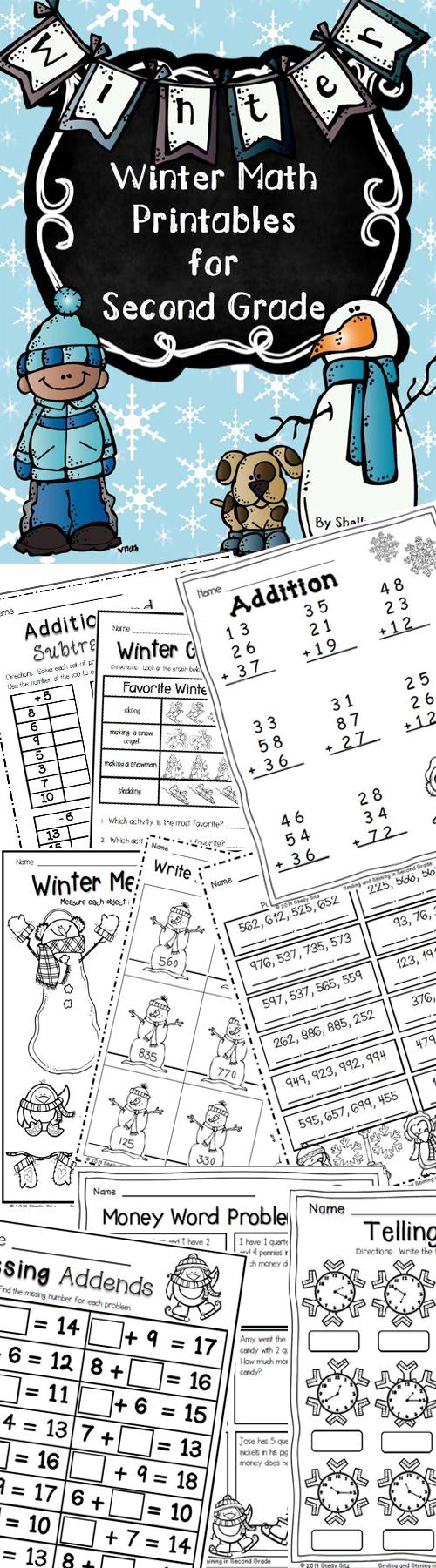 Winter Math Printables | Homeschooling | Pinterest | Math, 2nd grade