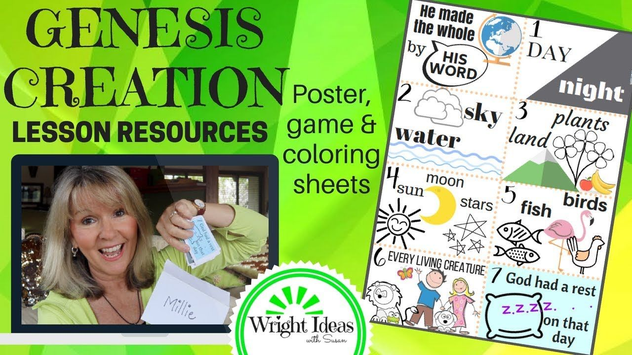 GENESIS CREATION STORY Bible lesson resources for Children