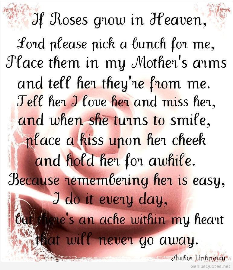 Happy Birthday Quotes For My Mom In Heaven Image Quotes At Relatably