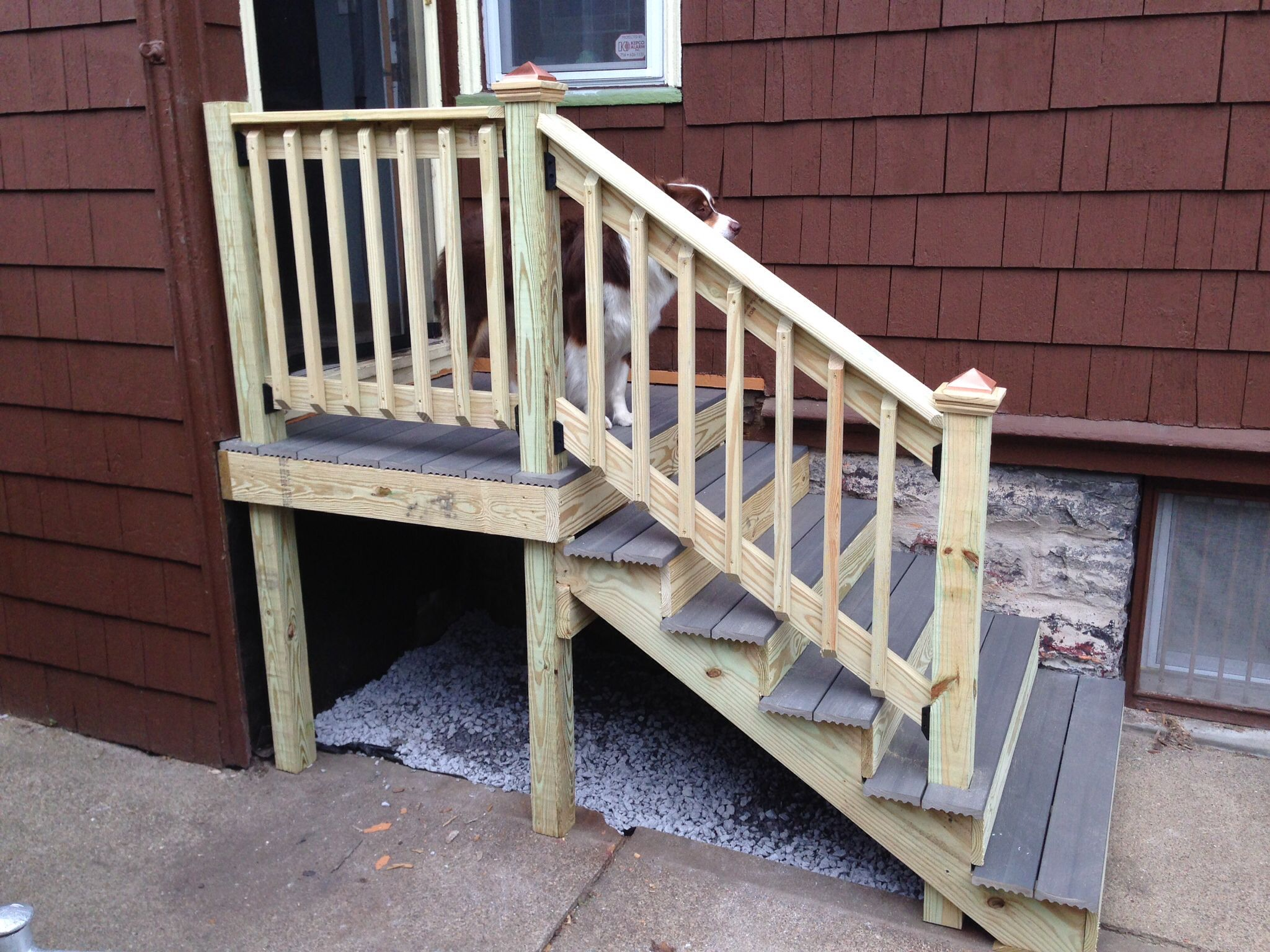 Best New Stairs For The Side Entrance Of The House Far Safer 640 x 480