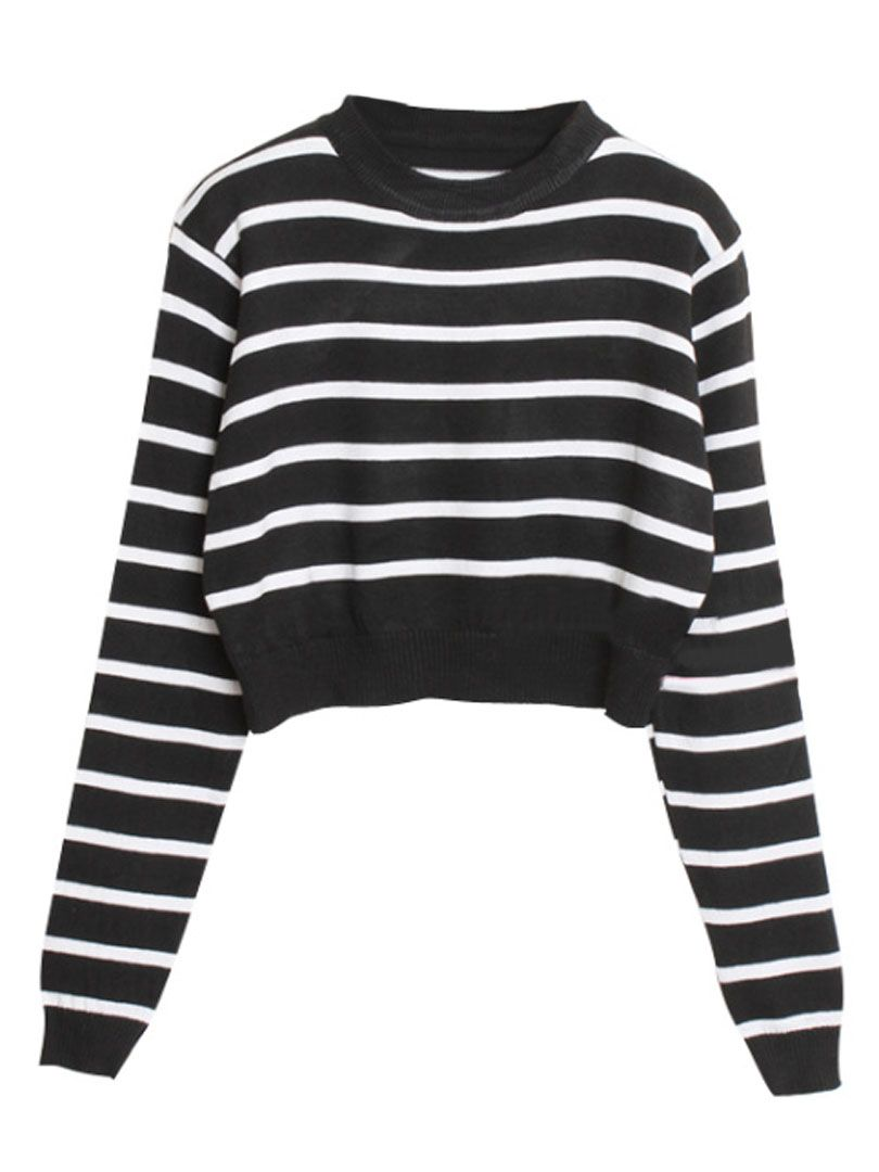 Choies basic black cropped sweater choies fashion clothing