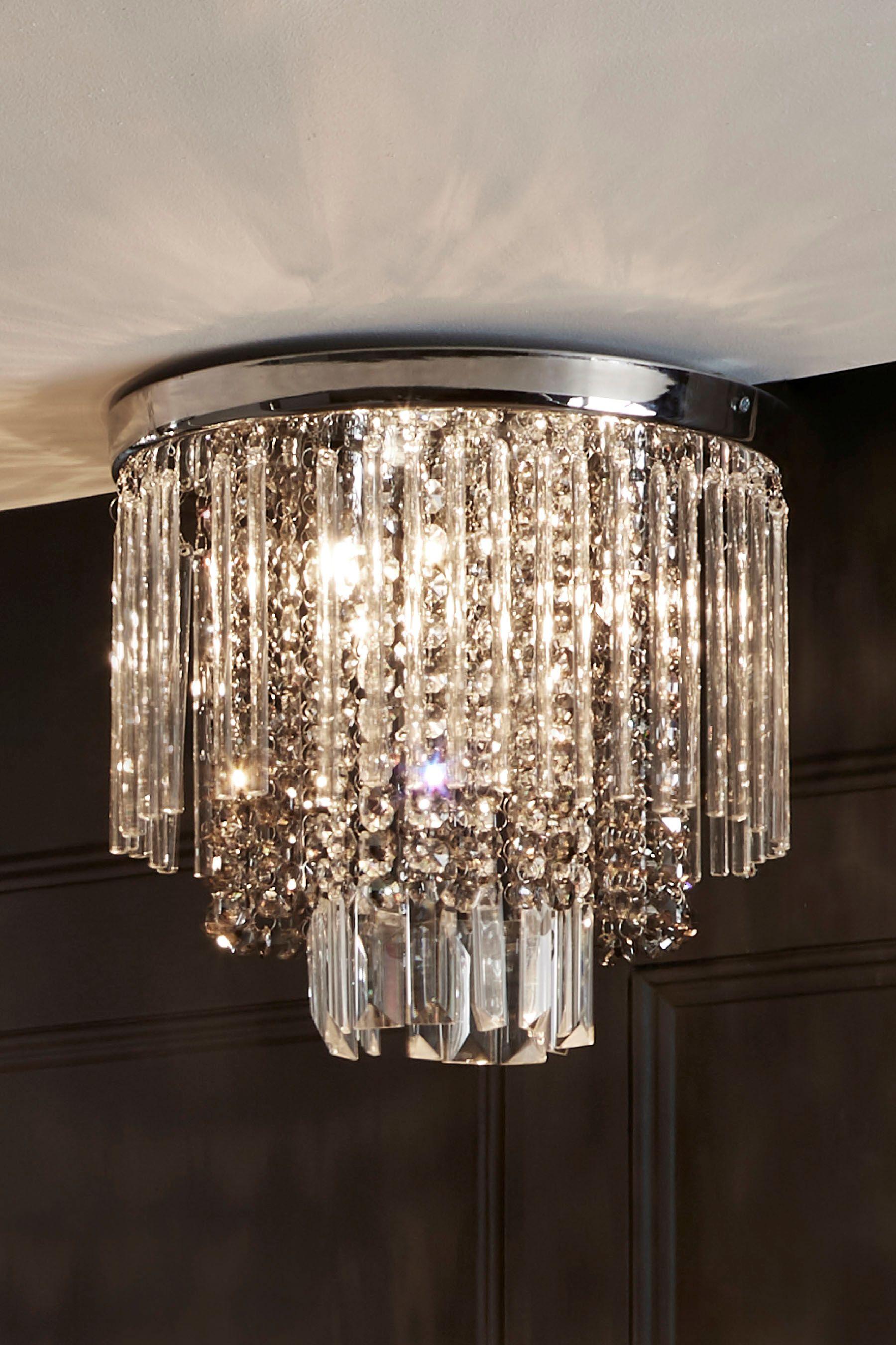 Next Kensington 3 Light Flush Fitting Chrome In 2020 Flush Ceiling Lights Ceiling Lights Glass Bar