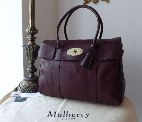 67fde29a1cff Mulberry Classic Heritage Bayswater in Oxblood Natural Leather with Shiny G Mulberry  Classic Heritage Bayswater in