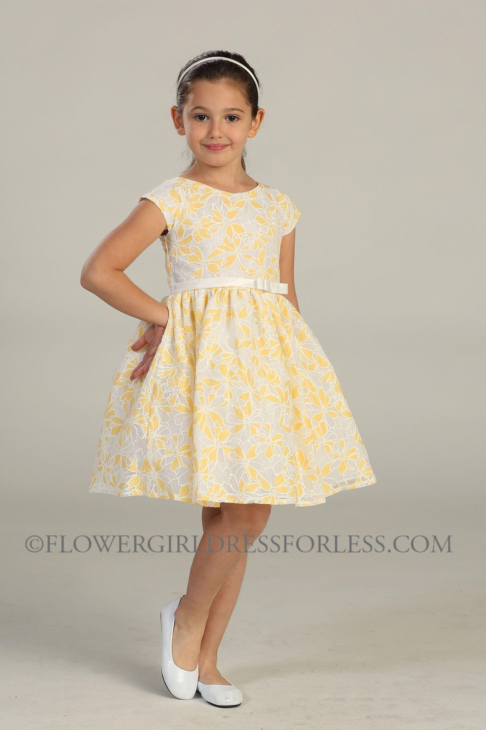 Girls Dress Style 438 Cap Sleeve Flower Lace Dress 5699 Flower