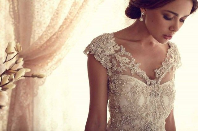 Okay confession time- We are obsessed with pretty sheath wedding dresses (  We know who fe032e750f1b