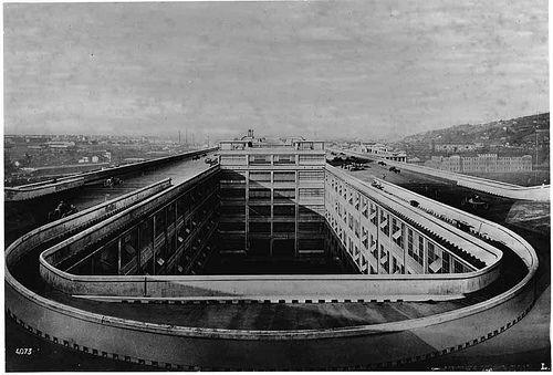 Fiat Garage Rotterdam : The fiat lingotto factory in turin built 1923 materials