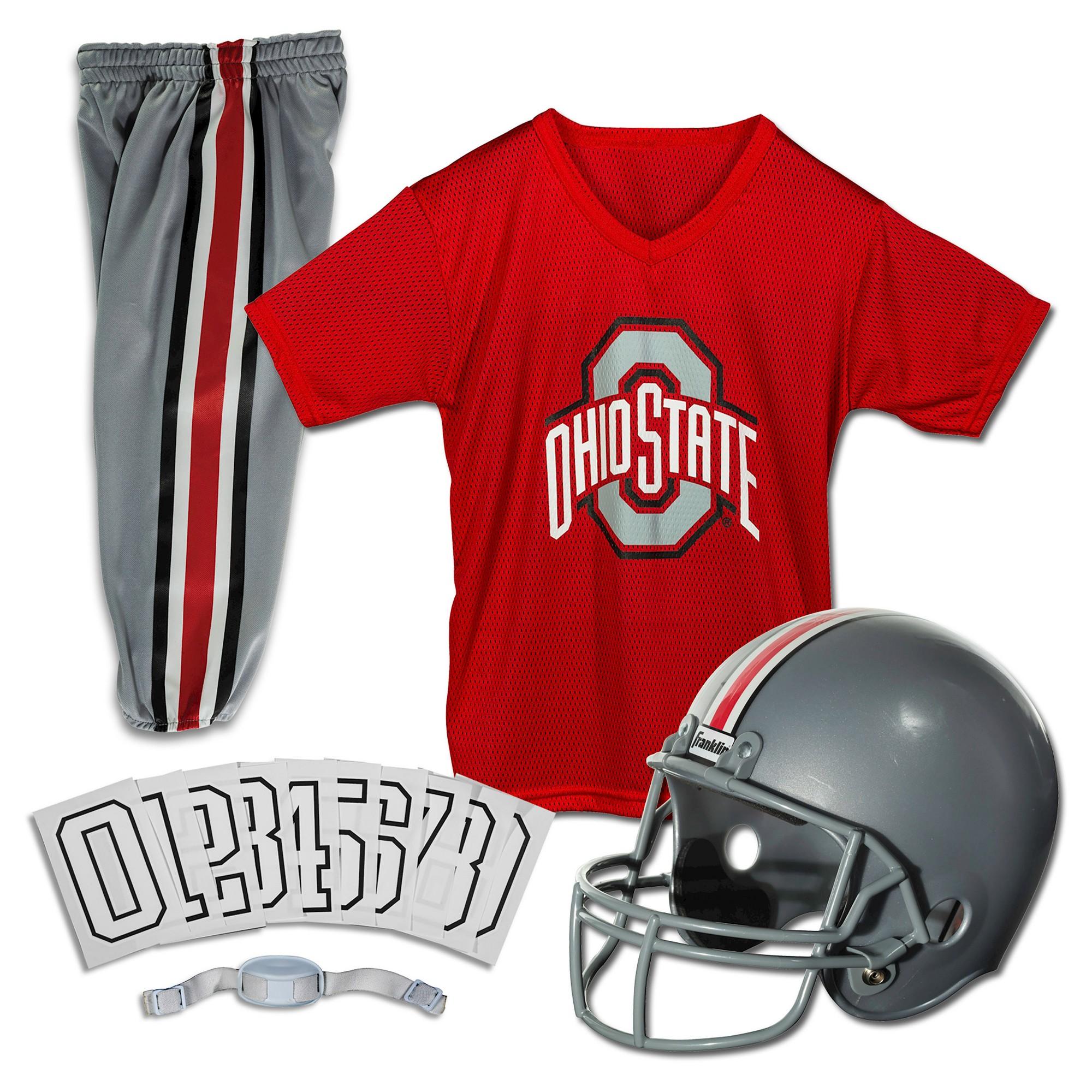 Franklin Sports Team Licensed Ohio State Buckeyes Deluxe Football Uniform Set Franklin Sports Ohio State Football Helmet Football Uniforms