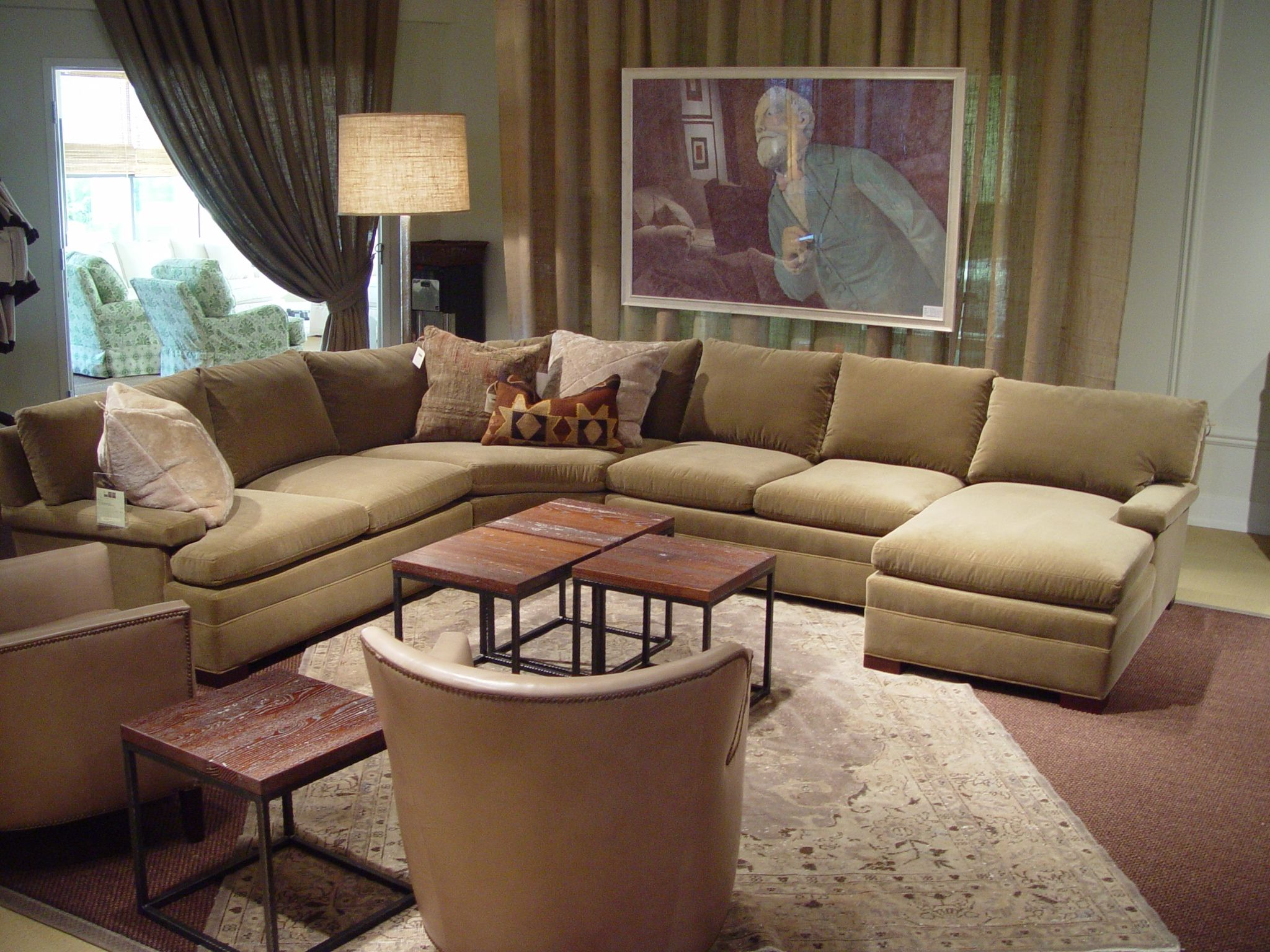 Lee Industries Leather Sectional Sofa