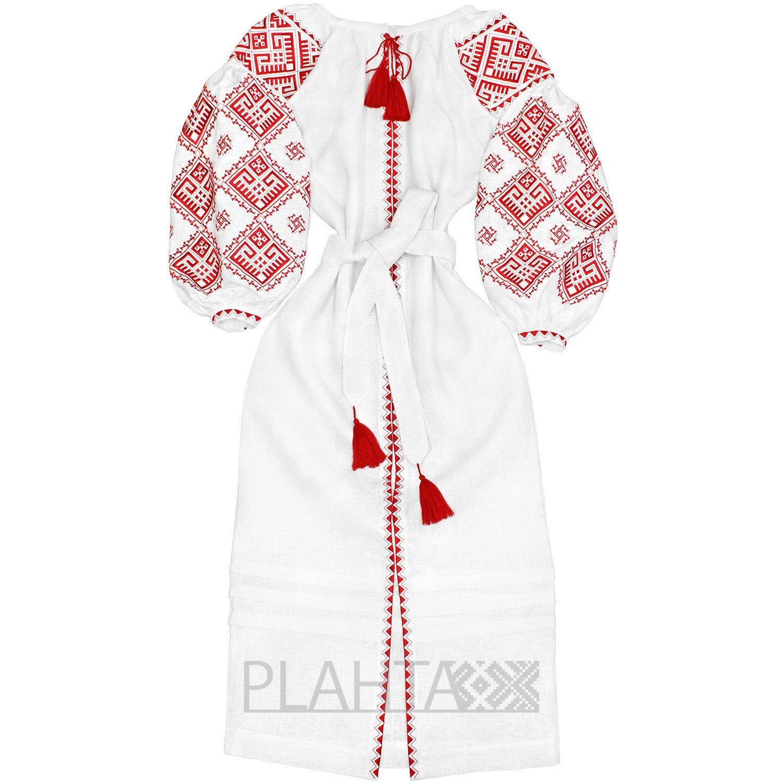 Довга біла сукня з українською вишивкою  a8e3a8ae1ecd0
