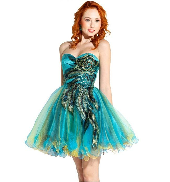 Prom Dresses For Plus Size Juniors Turquoise Cheap Short
