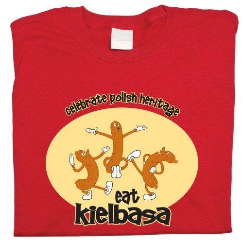 Polish Apparel Eat Kielbasa - Black T-Shirt XXX LARGE
