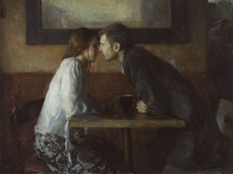 Stolen Kiss Ron Hicks American Painter B 1965 Impressionism