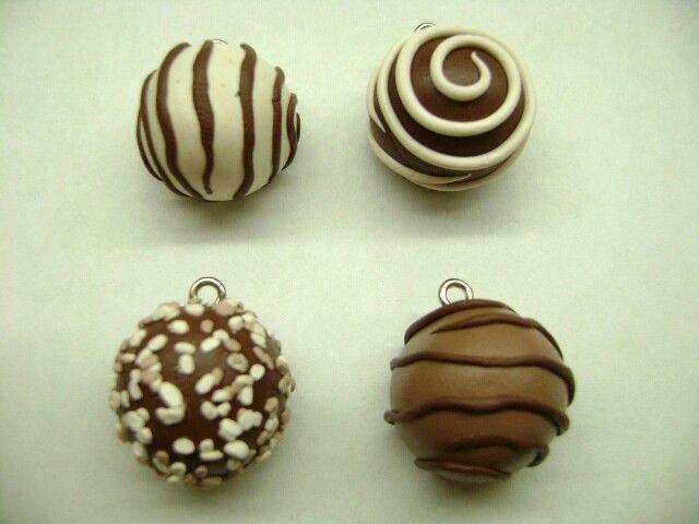 Polymer clay- truffles