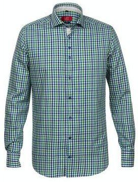 Het Overhemd.Herenoverhemd Van Liv Collection Met Een Ruitdessin Het Overhemd