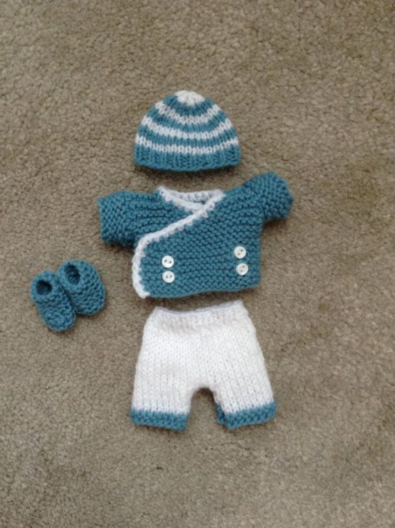 Hand Knitted Dolls Clothes To Fit 6 Ooak Baby Boy Doll Dolls Mini