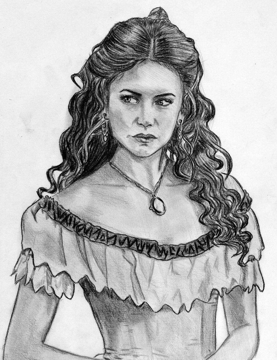 Дневники вампира рисунок