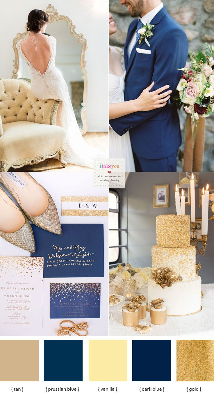 Ont Blue And Gold Wedding Theme