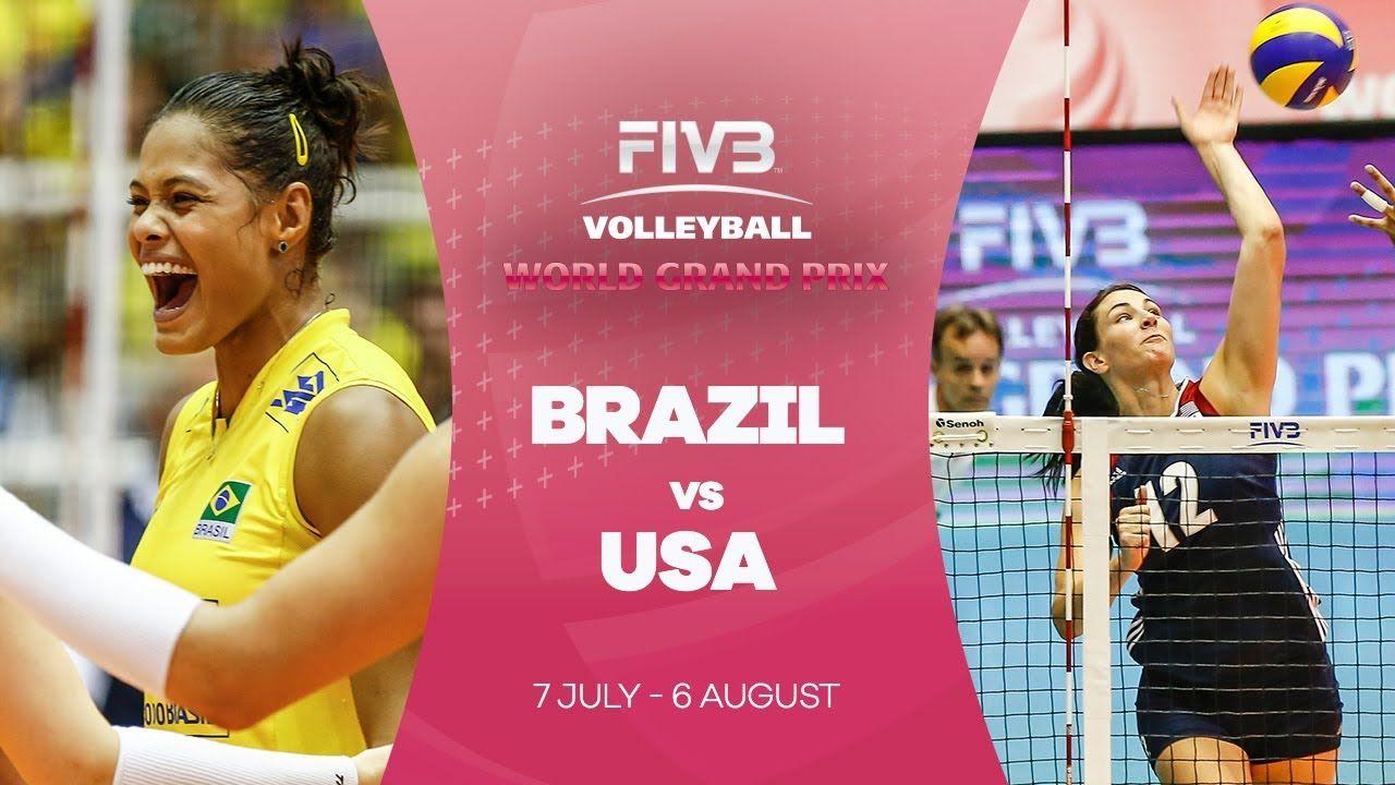 Brazil V Usa Highlights Fivb World Grand Prix Volleyball Articles Grand Prix Brazil