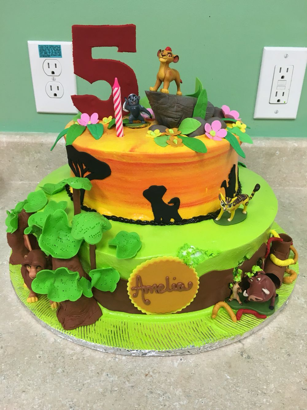 Lion Guard Birthday Cake King Party