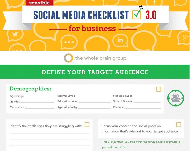 Customizable social media strategy and action plan checklist - social media marketing plan