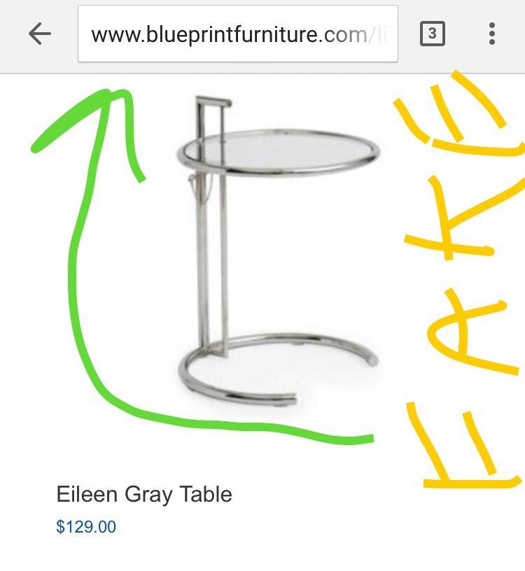 Buyer beware sells fake designer - E 1027 table by eileen gray ...