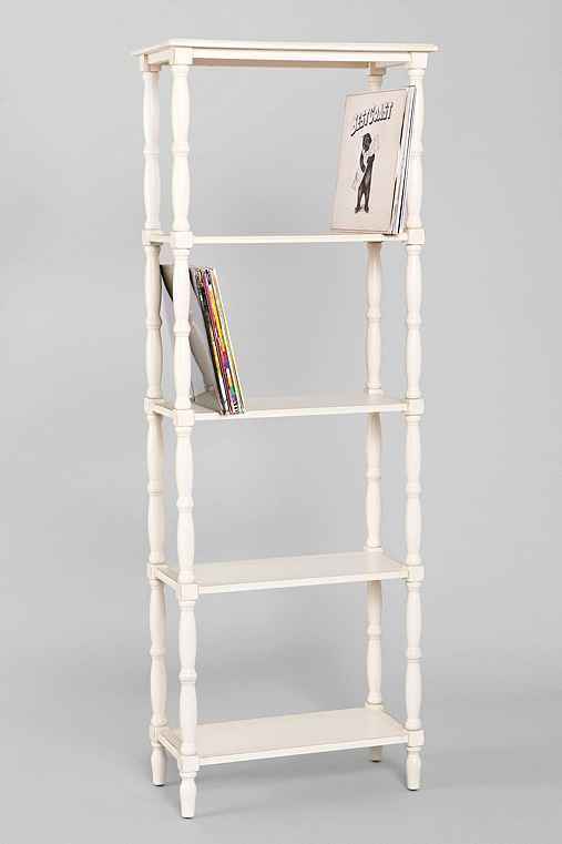 Margot Tall Spindle Bookcase Bookcase Slim Bookshelf