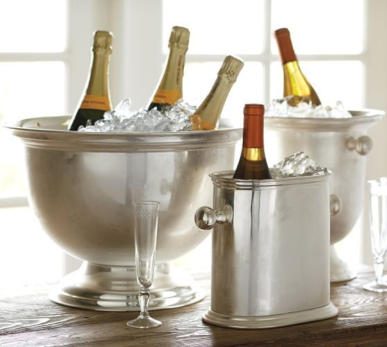 Hotel Silver Plated Oversized Bucket Wine Bucket Wine Chiller Champagne Buckets