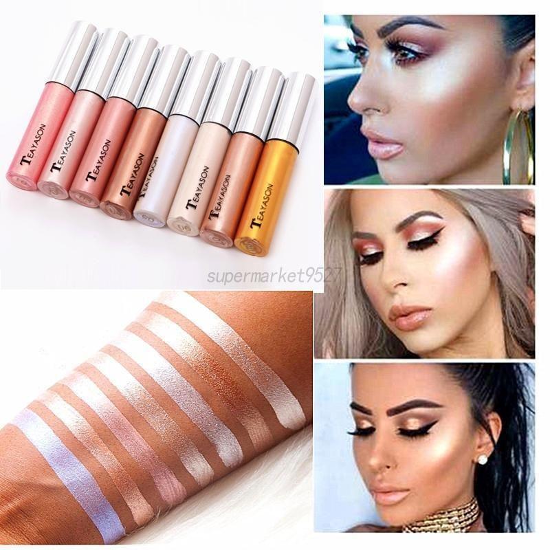 806565854108 $1.52 - 8 Color Illuminating Liquid Highlighter Makeup Corrective ...