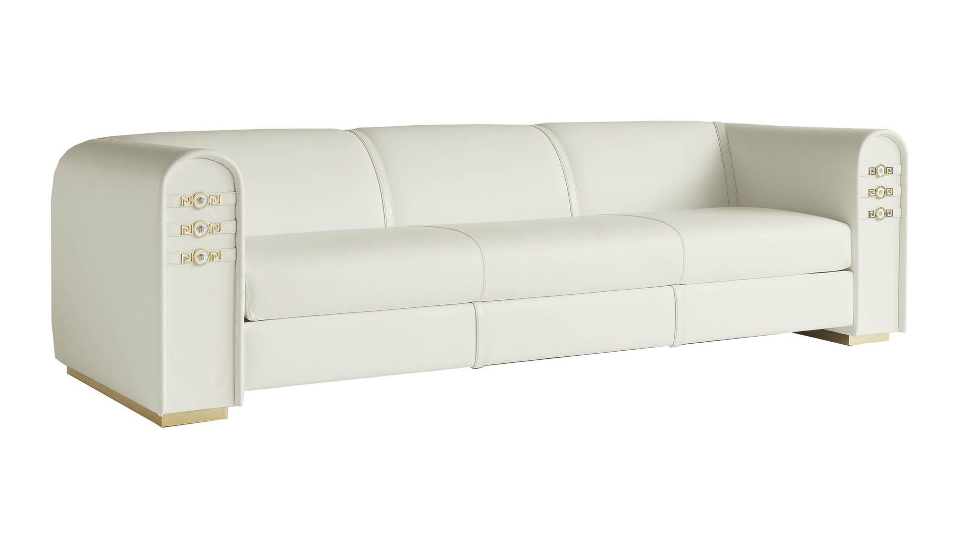 Versace Signature Sofa Teaming An All Black Colour Palette With Golden Base And