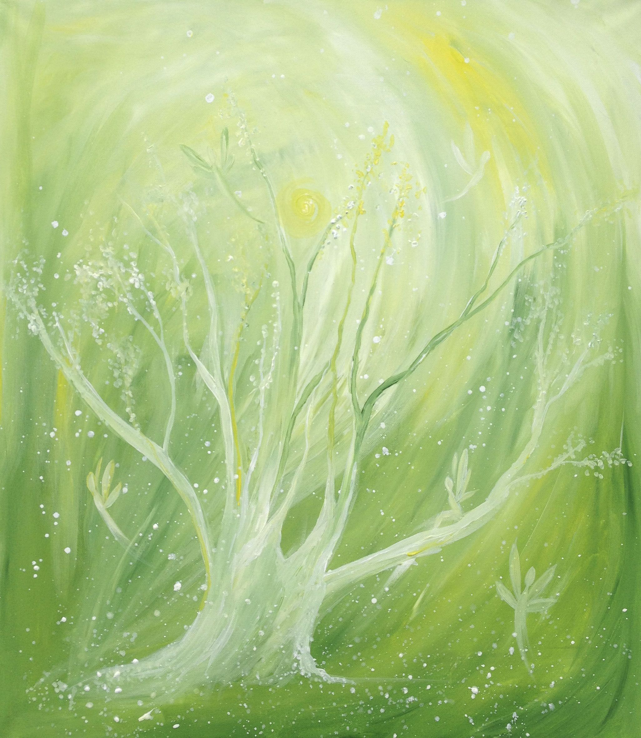 ~Fairy Tree~ / Acrylic painting by Anette Puga....  It was beautiful day, full of sunshine, joy and fairies*