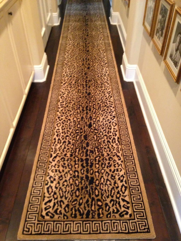 Leopard Print Runner Rug