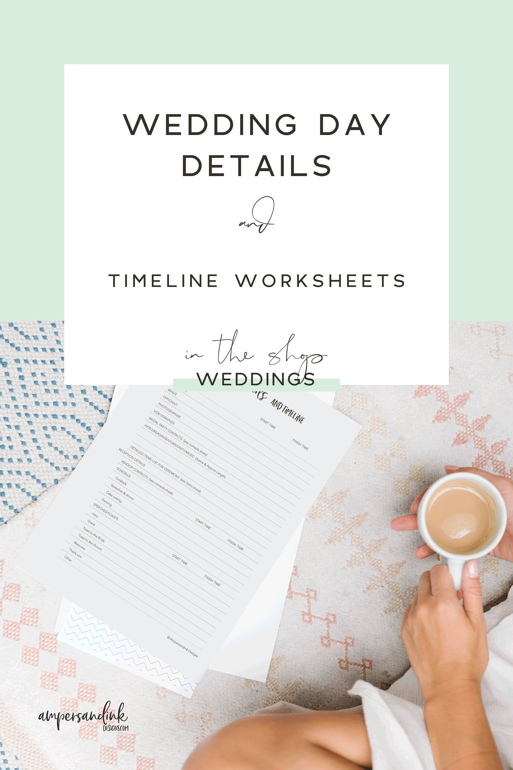 Wedding Day Details And Timeline