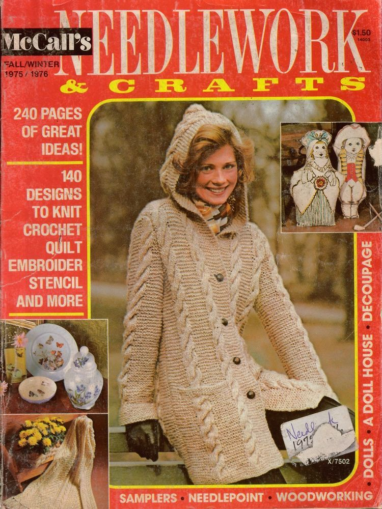 Mccalls Needlework Crafts Fall Winter 1975 Knitting Crochet