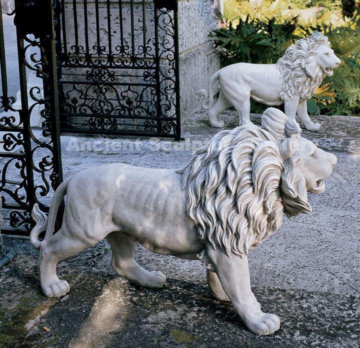Regal Lions Estate Gate Home Garden Sculpture Statues Animal Statues Lion Sculpture Statue