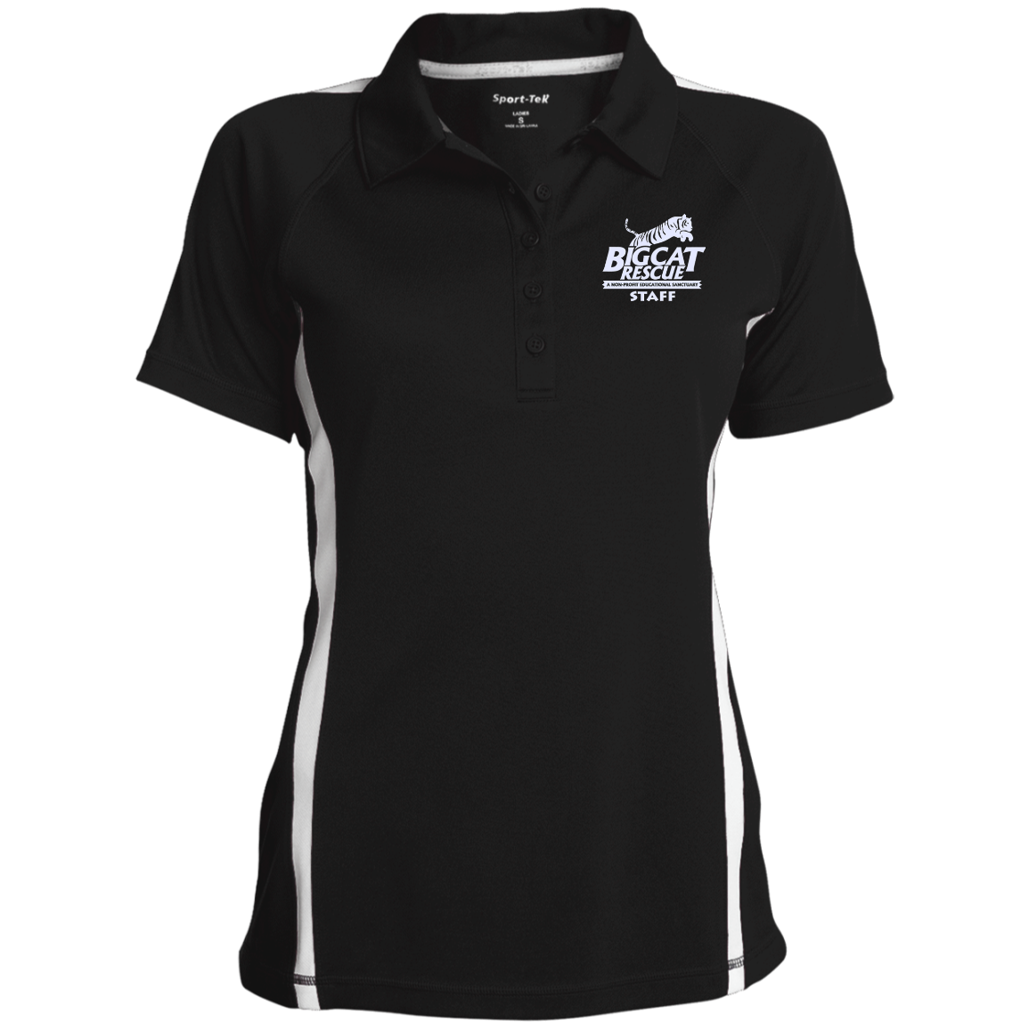 Just added this new StaffOnly Ladies'... for you.  Woo Hoo! What do you think? http://catrescue.myshopify.com/products/staffonly-ladies-custom-colorblock-three-button-polo?utm_campaign=social_autopilot&utm_source=pin&utm_medium=pin