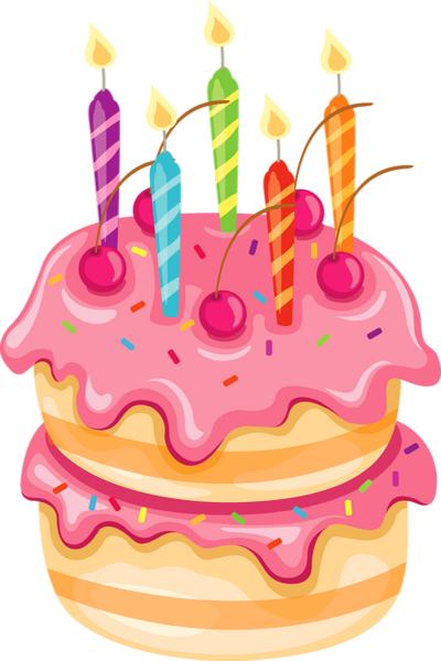 Gâteau d'anniversaire rose dessin 생일 아이디어, 생일 및 생일 축하