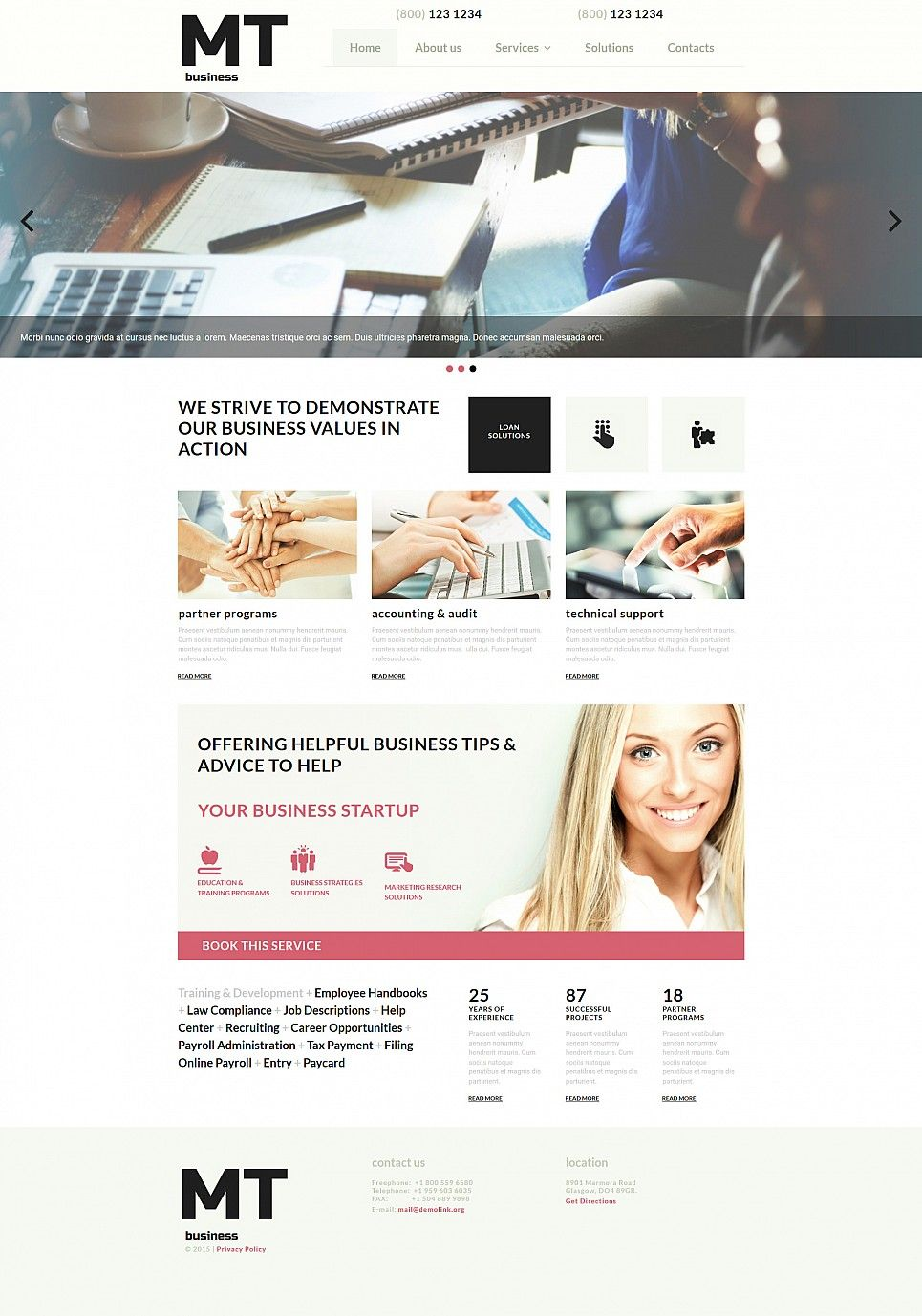 Consulting Website Maker Responsive Moto Cms 3 Template 52343 Consulting Website Website Maker Web Design Software