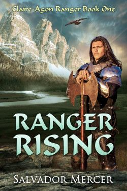 http://bookbarbarian.com/ranger-rising-by-salvador-mercer/ - A thousand years ago, on the world of Claire-Agon, a war raged between men and dragons, destroying the creatures and the land's many civilizations.  When his family is enslaved, Targon Terrel must battle the sinister Kesh wizards to save them, but a desperate group of refugees from his home country of Ulatha needs his help, too.  With the unexpected aid of a Druid of the Arnen, Targon discovers his destiny as a
