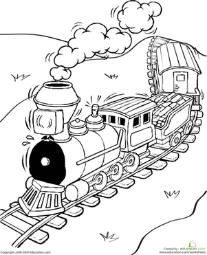 First Grade Coloring Worksheets Color The Train Train Coloring Pages Coloring Books Coloring Pages