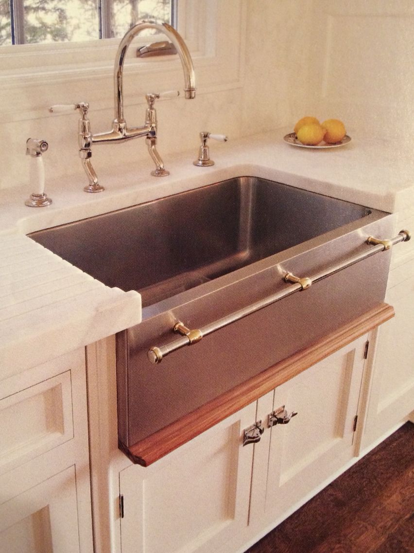 Farmhouse Sink With Towel Bar With Images Inset Cabinets