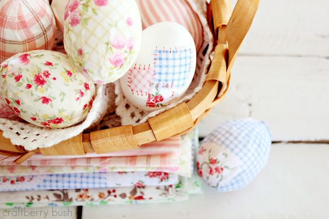 Fabric covered Easter Eggs!