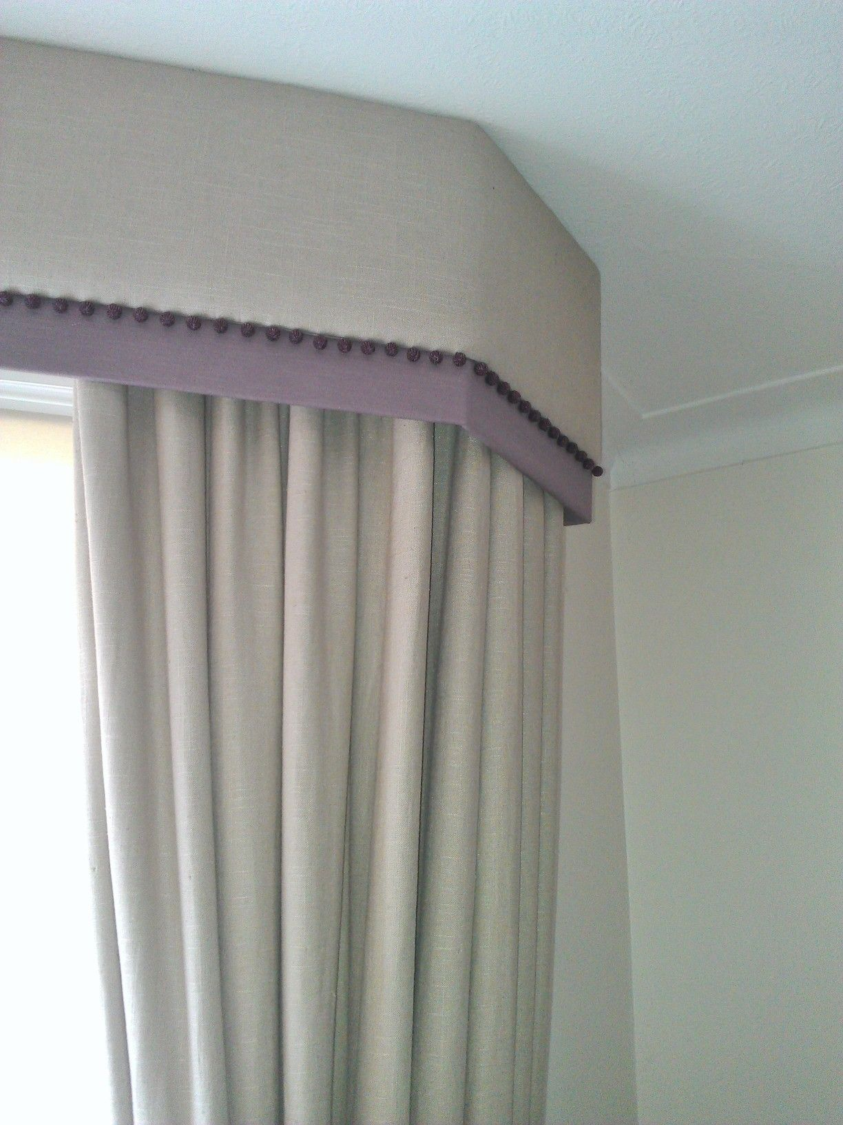 Trimmed Pelmet Dummy Curtains
