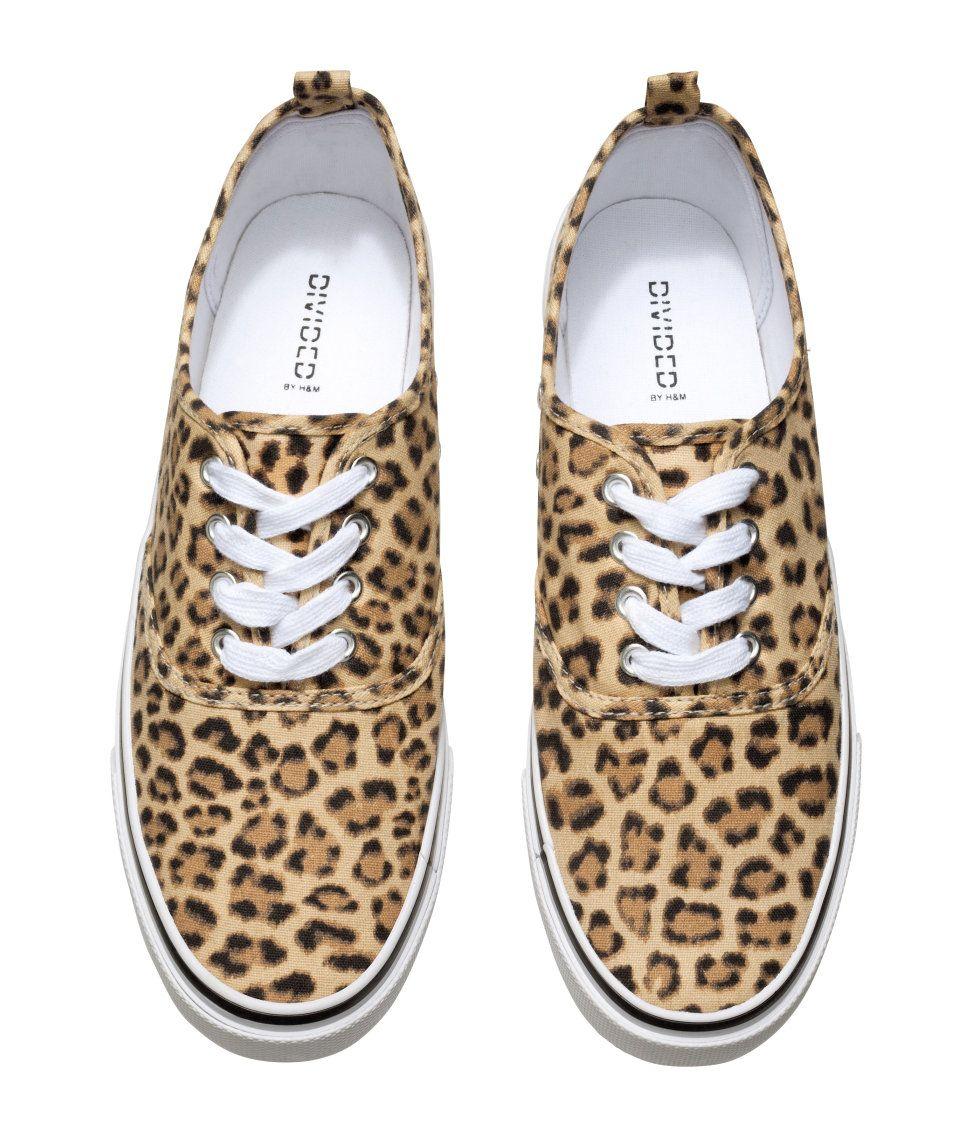 H\u0026M Sneakers $14.95 | Leopard print